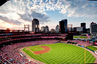 Busch Stadium in the Sunset